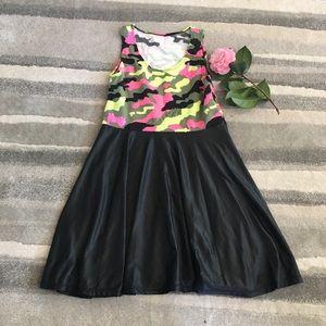 Flowers By Zoe Sleeveless Camo Swing Dress